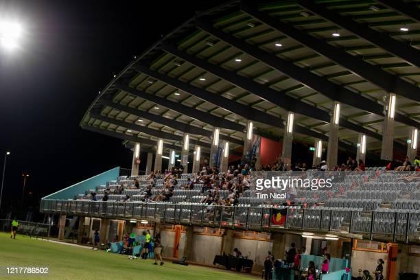 Crowd watching Northern Territory Premier League match between Hellenic FC and Yappas FCat Darwin Football Stadium 1 on June 5, 2020 in Darwin,...