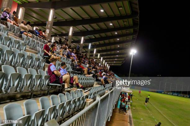 Crowd watching Northern Territory Premier League match between Hellenic FC and Mindil Aces FC at Darwin Football Stadium 1 on June 5, 2020 in Darwin,...