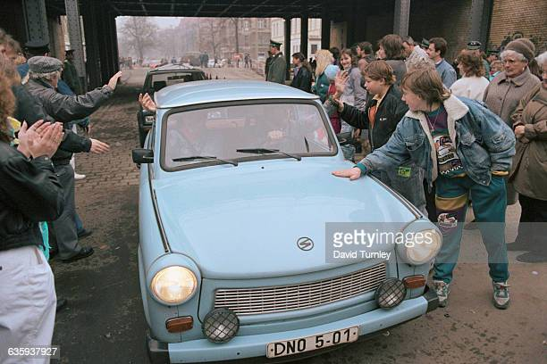 Crowd Welcoming East Germans to West