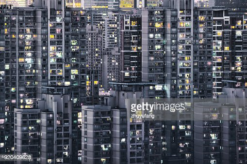 Crowded apartment buildings in Shanghai