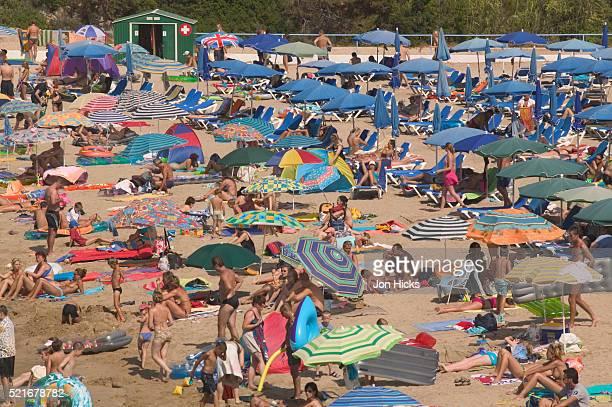 Crowded Beach on Ibiza