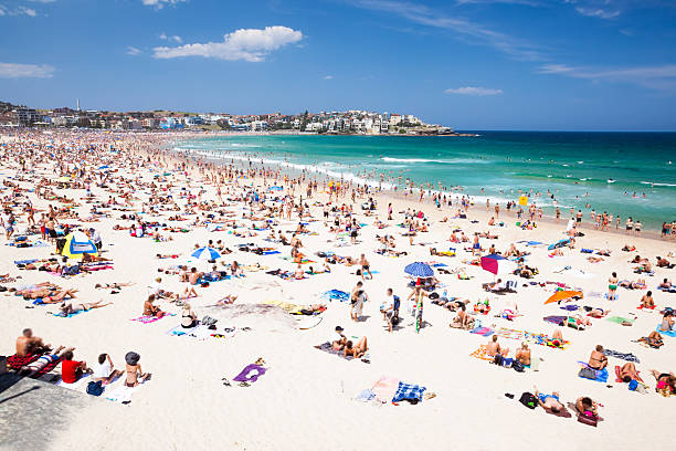 Crowded Bondi Beach, Sydney, Australia Wall Art