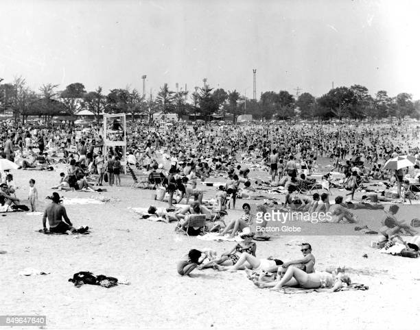 A crowded Carson Beach in South Boston is pictured on Jul 18 1964