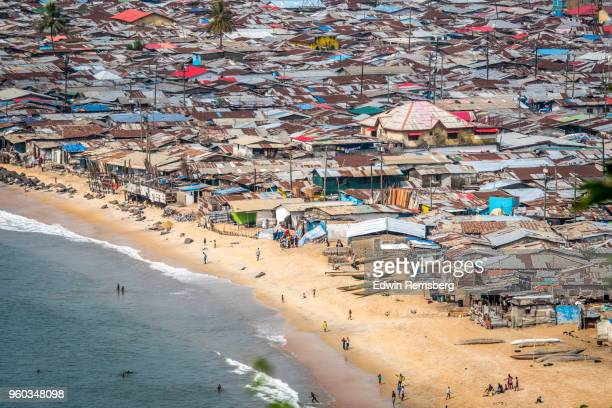 crowded city - monrovia liberia stock pictures, royalty-free photos & images