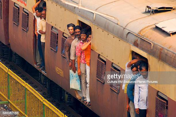 Crowded commuter train, Mumbai, India