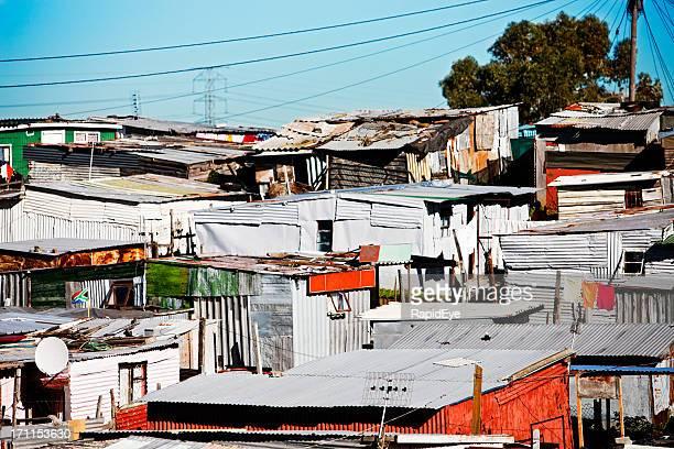 Beengt Wellblech Hütten am Khayelitsha, Cape Town