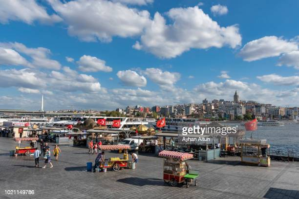Crowded Eminonu Square in Fatih District of Istanbul,Turkey