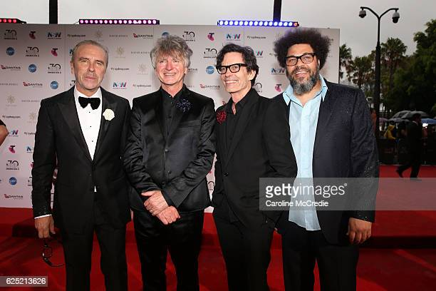 Crowded House arrives for the 30th Annual ARIA Awards 2016 at The Star on November 23 2016 in Sydney Australia