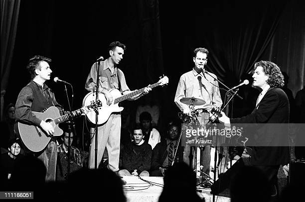 Crowded House during MTV's Unplugged 1989 in Los Angeles CA United States