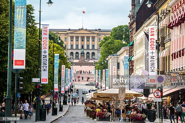 Crowded Karl Johans gate, Oslo, Norway