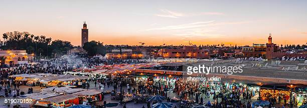Crowded market square in City of Marrakech