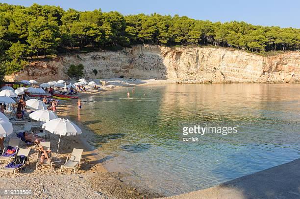 Affollata Marpunta spiaggia, Alonissos (Alonneso