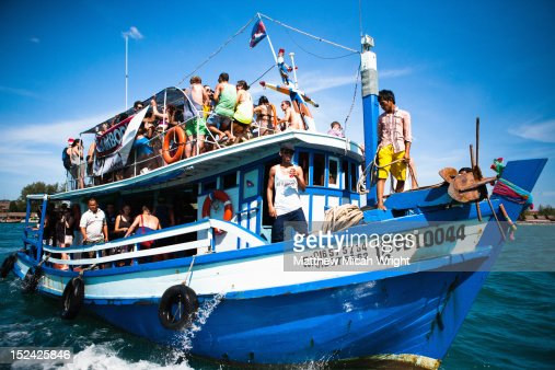 A Crowded Party Boat Cruise Leaves The Harbor Stock Photo Getty - Cruise ship party