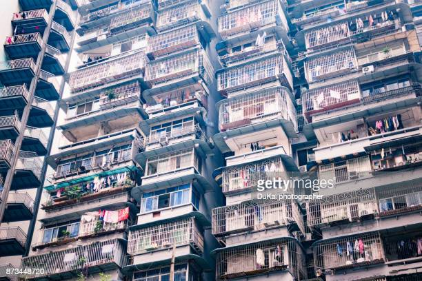 crowded Residential area in chongqing china