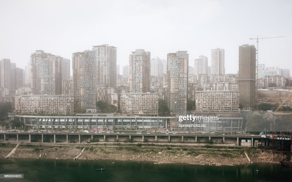 Crowded Residential area in Chongqing : Stock-Foto