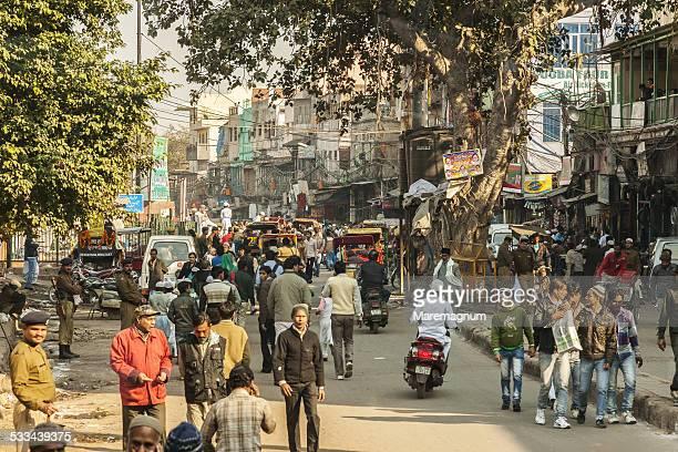 Crowded street around Jama Masjid