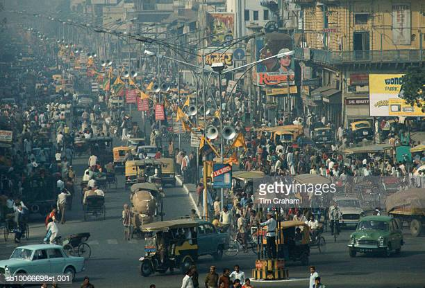 Crowded Street, Delhi, India