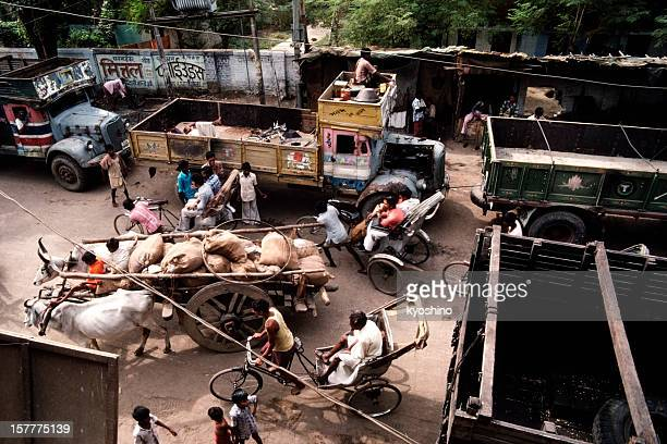 Crowded street in Gaya,India