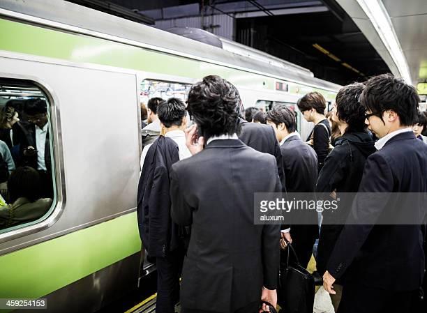 Affluence métro de Tokyo, Japon