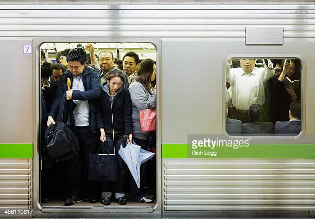 Crowded Tokyo Subway