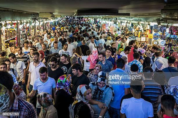Crowded underpass in Eminonu
