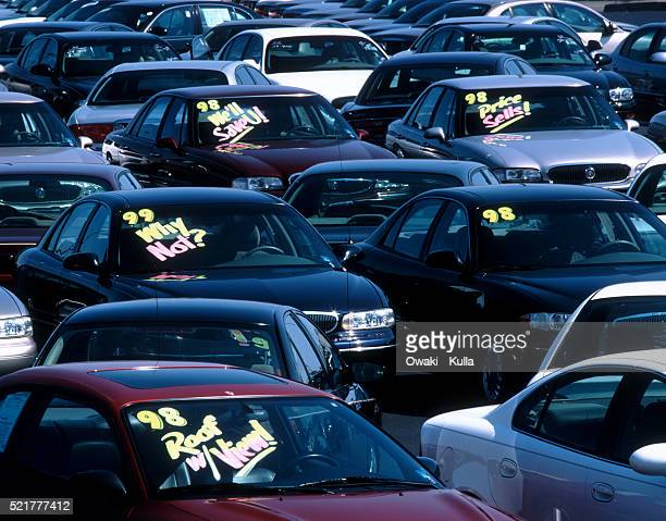 Crowded Used Car Lot