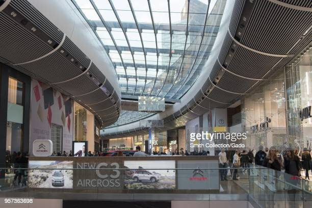 Crowded Westfield Stratford City shopping center Stratford London England October 29 2017