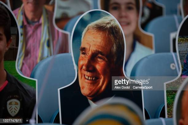 A crowdie of Norman Hunter is seen in the stands at Elland Road during the Sky Bet Championship match between Leeds United and Charlton Athletic at...
