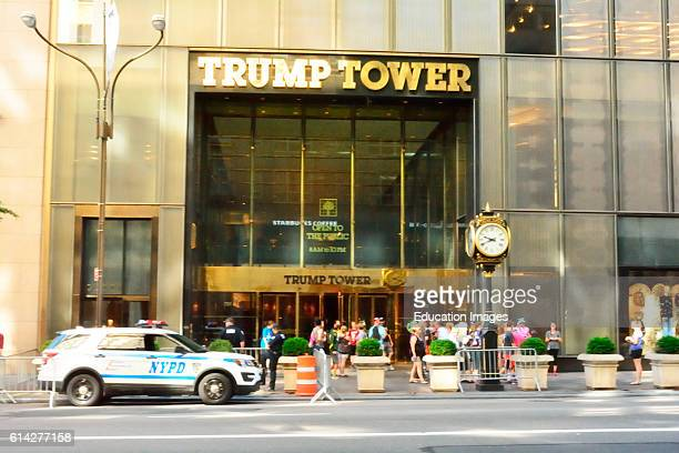 Crowds and Police outside Trump Towers NY