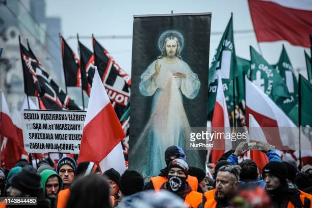 Crowds are seen at a right-wing rally taking place during Polish Independence Day celebrations on the occasion of the countrys 100th anniversary in...