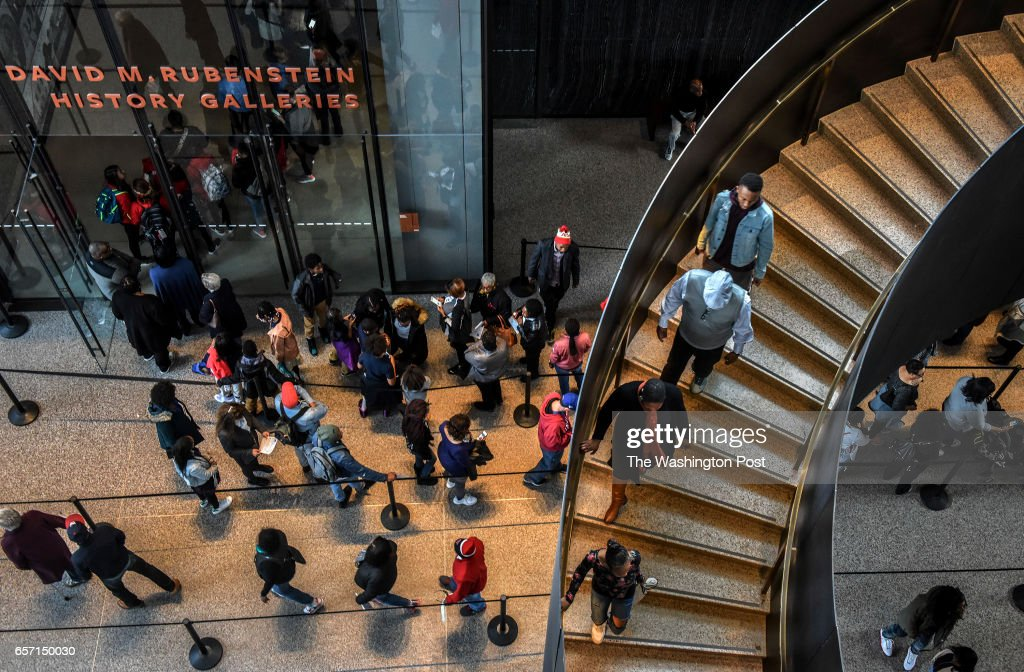 A visit to the National Museum of African American History and Culture at its' 6 month anniversary in Washington, DC. : News Photo