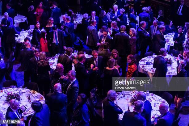 Crowds arrive for the Lowy Lecture at Sydney Town Hall on July 27 2017 in Sydney Australia The British Foreign Secretary and former London Mayor is...