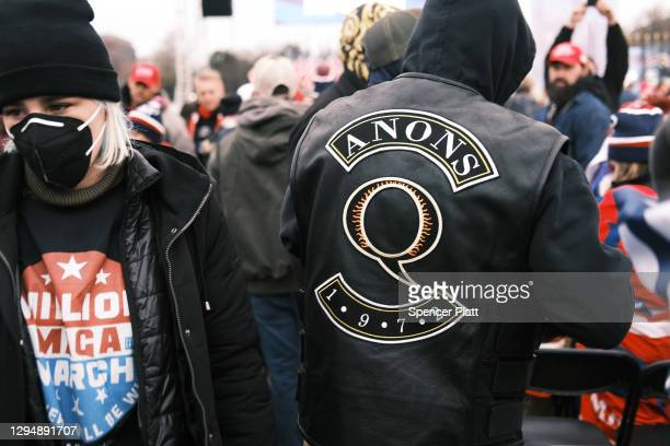 """Crowds arrive for the """"Stop the Steal"""" rally on January 06, 2021 in Washington, DC. Trump supporters gathered in the nation's capital today to..."""