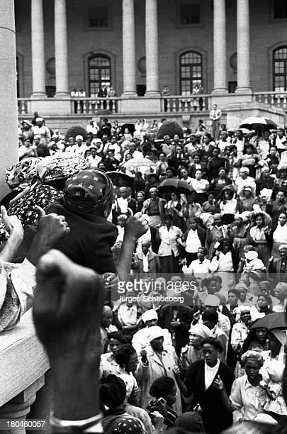 Crowds at a demonstration by the Federation of South African Women outside the Union Buildings in Pretoria South Africa 27th October 1955 The FSAW's...