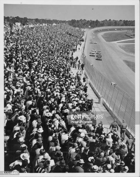 Crowds at Daytona Beach Florida circa 19451965
