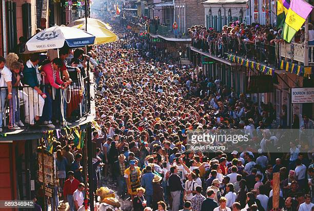 crowds at mardi gras - mardi gras stock pictures, royalty-free photos & images