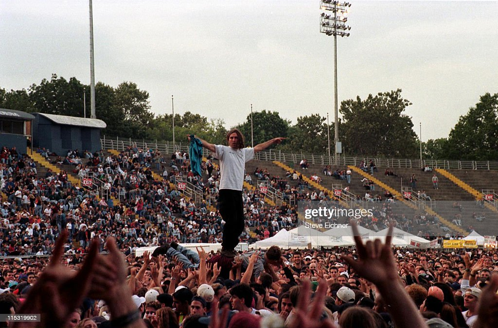 Pearl Jam in Concert at Downing Stadium - 1996