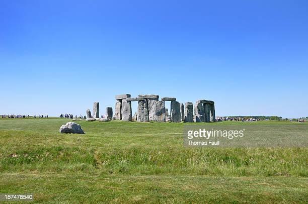 Crowds at Stonehenge.