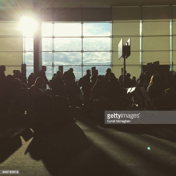 Crowds at the Airport