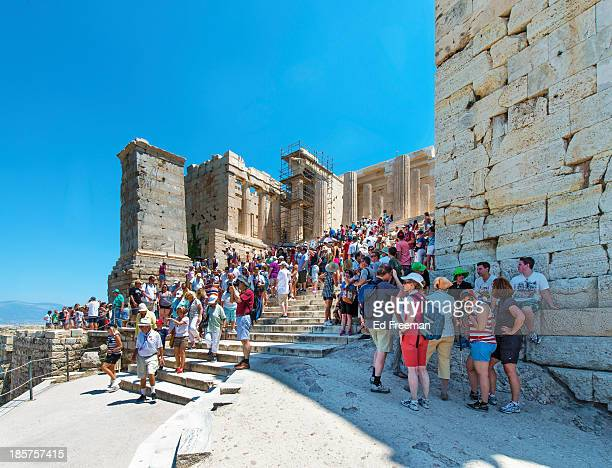 Crowds at the Entrance to the Acropolis