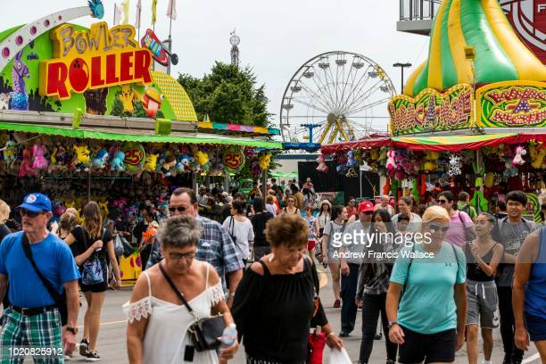 Crowds at the Opening day of the CNE