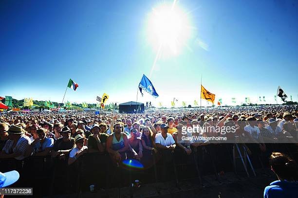 Crowds at The Other Stage during the fourth and final day of Glastonbury Festival 2011 at Worthy Farm on June 26 2011 in Glastonbury United Kingdom