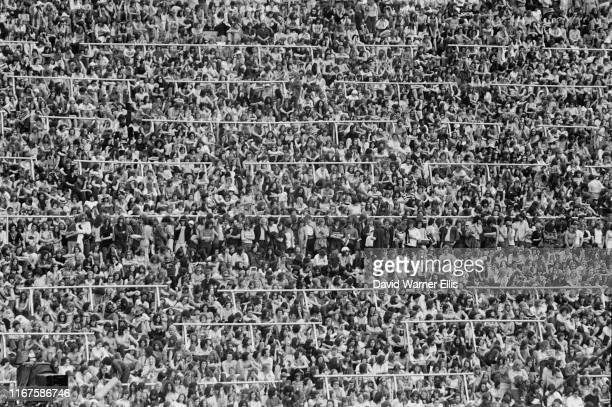 Crowds at The Valley Charlton Athletic FC stadium to attend a day festival headlined by British rock band The Who and supporting act by Humble Pie...