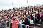 south queensferry scotland crowds await arrival