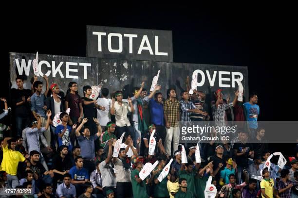 Crowds during the Bangladesh v Hong Kong match at the ICC World Twenty20 Bangladesh 2014 played at Zahur Ahmed Chowdhury Stadium on March 20, 2014 in...