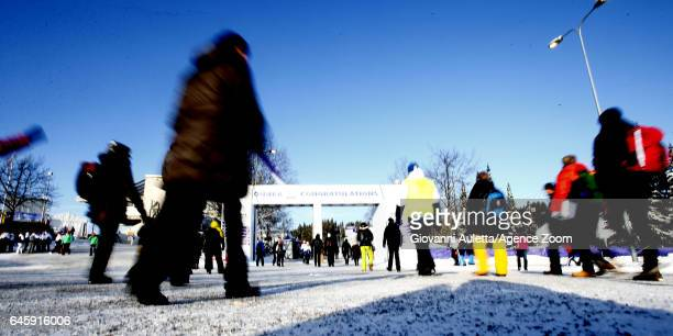 Crowds during the FIS Nordic World Ski Championships Men's and Women's Cross Country Skiathlon on February 25 2017 in Lahti Finland