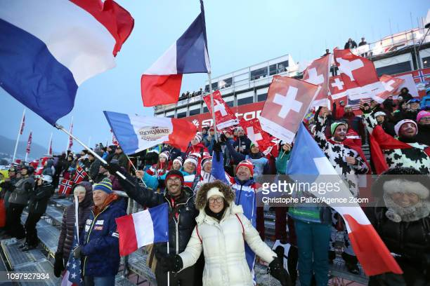 Crowds during the FIS World Ski Championships Men's Alpine Combined on February 11 2019 in Are Sweden