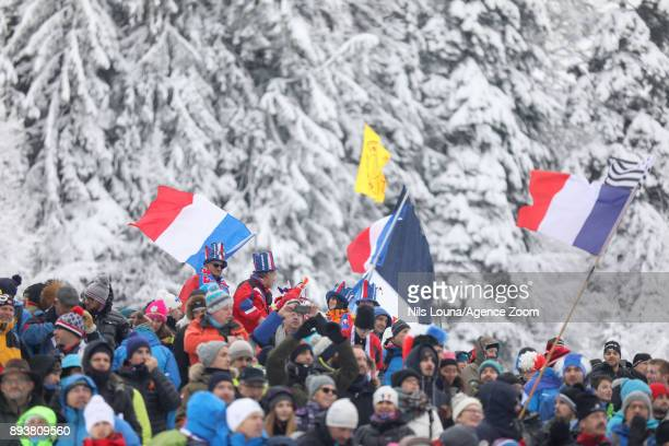 Crowds during the IBU Biathlon World Cup Men's and Women's Pursuit on December 16, 2017 in Le Grand Bornand, France.