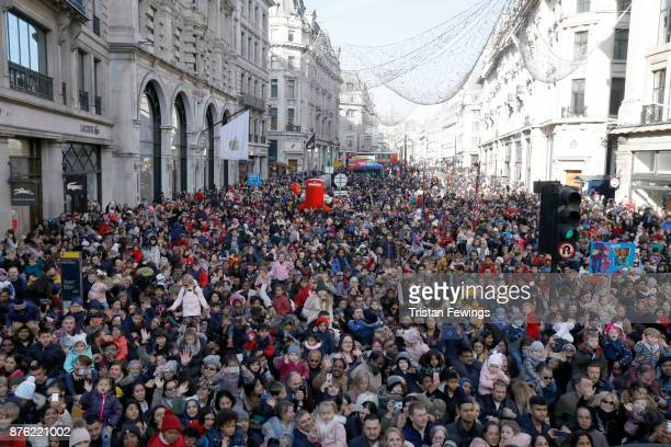 Crowds gather as Hamleys bring the magic of Christmas to the festive shopping season with the biggest toy parade the city has ever seen including...