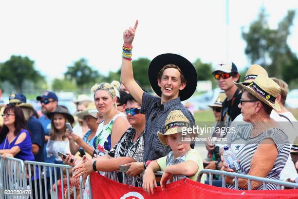 Crowds gather at the Golden Guitar Awards on January 28 2017 in Tamworth Australia The Tamworth Country Music Festival is an annual event held in...